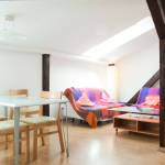Bright loft - 2 bedrooms apartment for 3 students with living room!